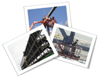 Collage of small pictures of ironworkers